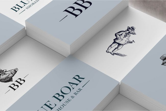 Blue Boar business cards